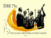 The Clancy Brothers and Tommy Makem Postage Stamp