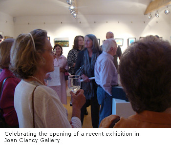 Celebrating the opening of a recent exhibition in Joan Clancy Gallery